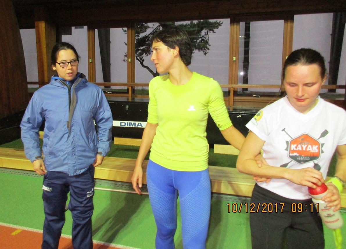 Elise Marc  avec Annouck Cuzillat et sa guide Lise.